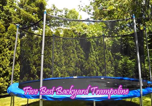 five best backyard trampoline trampolines reviews