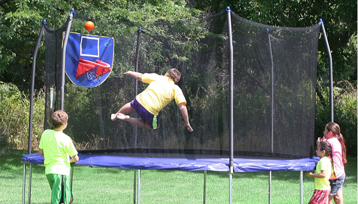 Skywalker 15 Feet Outdoor Jump N Dunk Trampoline Review